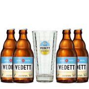 Kit de Cervejas Vedett com Copo Gratuito
