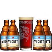 Kit de Cervejas Vedett com Copo Hobgoblin Gratuito