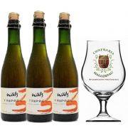 Kit de Cervejas Wals Trippel com Taça Hallertau 400 ml