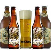 Kit de Cervejas Weissbier com Copo Asahi