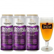 Kit de Cervejas Youngs Double Chocolate com Taça Jenlan
