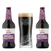 Kit de Cervejas Youngs Double Chocolate Stout com Copo