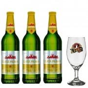 Kit de Cervejas Zlata Praha com Taça Dama Bier