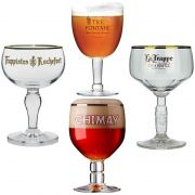 Kit de Taças de Cervejas Trapistas contendo 4 Unidades