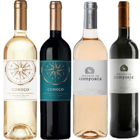 Kit de Vinhos Começo e Herdade da Comporta com 4 Rótulos