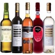 Kit de Vinhos Martha's Contendo 5 Rótulos