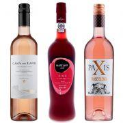 Kit de Vinhos Rose contendo 3 Rótulos
