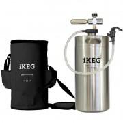 Kit Ikeg 10 Litros com Torneira de Plástico e Bolsa Térmica Preta