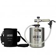 Kit Ikeg 2 Litros com Torneira de Plástico e Bolsa Térmica Preta