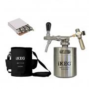 Kit Ikeg de 2 Litros com Torneira Italiana e Bolsa Térmica Preta e Co2