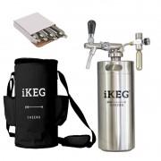 Kit Ikeg de 4 Litros com Torneira Italiana e Bolsa Térmica Preta e Co2