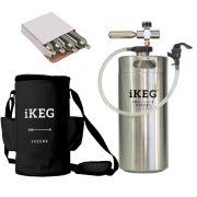 Kit Ikeg de 4 Litros com Torneira Plástica e Bolsa Térmica Preta e CO2