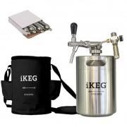 Kit Ikeg de 5 Litros com Torneira Italiana e Bolsa Térmica Preta e Co2