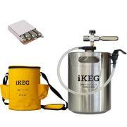 Kit Ikeg de 5 Litros com Torneira Plástica e Bolsa Térmica e CO2