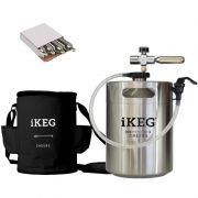 Kit Ikeg de 5 Litros com Torneira Plástica e Bolsa Térmica Preta e CO2