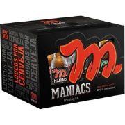 Kit Maniacs 4 cervejas e 2 Copos