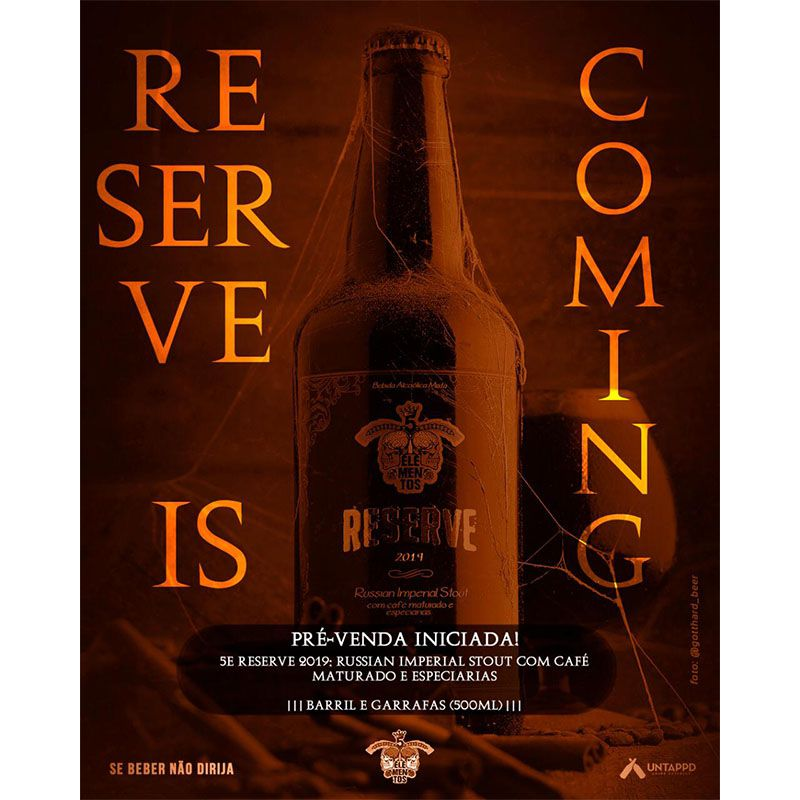 Cerveja 5 Elementos Reserve 2019 500 ml