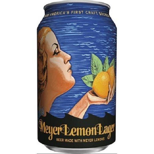 Cerveja Anchor Meyer Lemon Lager Lata 355 ml
