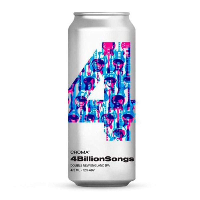 Cerveja Croma 4BillionSongs Double NE Ipa Lata 473 ml