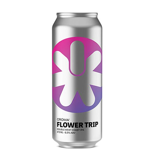 Cerveja Croma Flower Trip Double West Coast Ipa Lata 473 ml