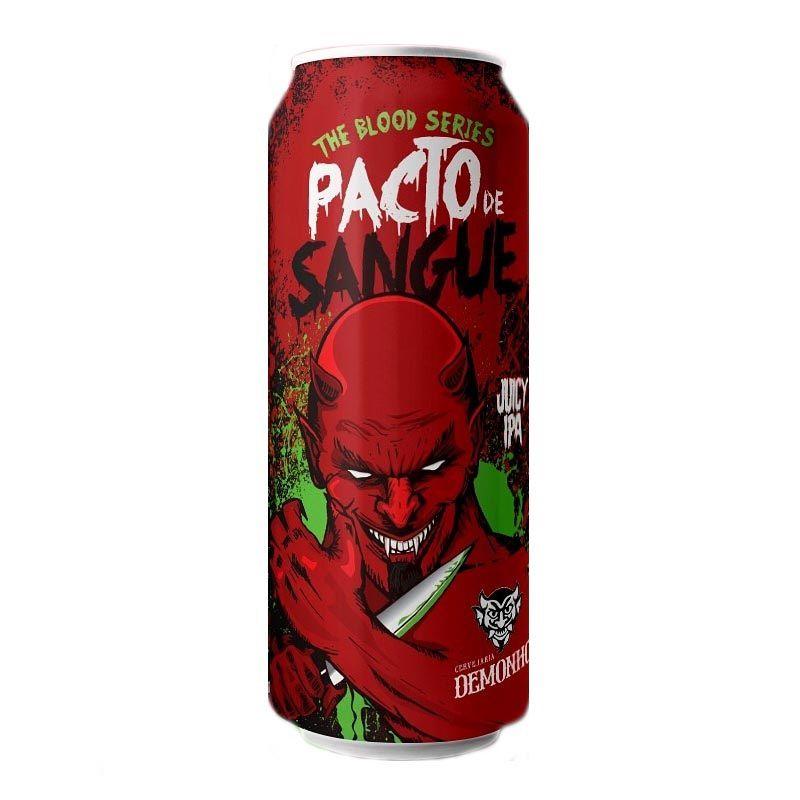 Cerveja Demonho Pacto de Sangue Juicy Ipa Lata 473 ml