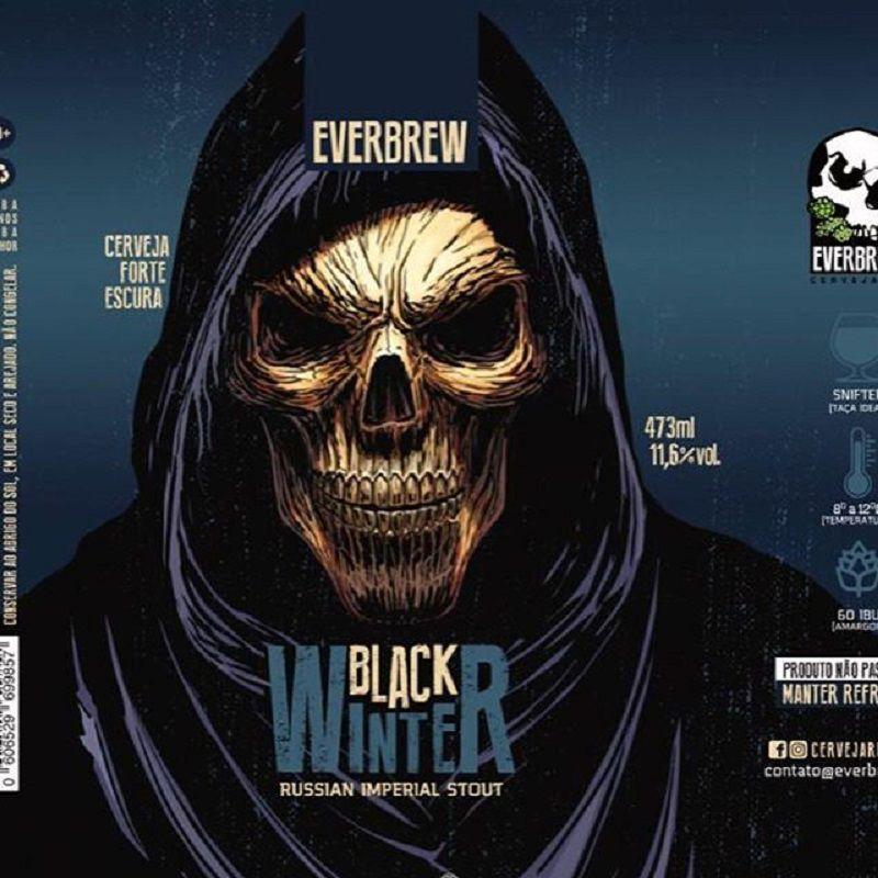 Cerveja Everbrew Black Winter Lata 473 ml