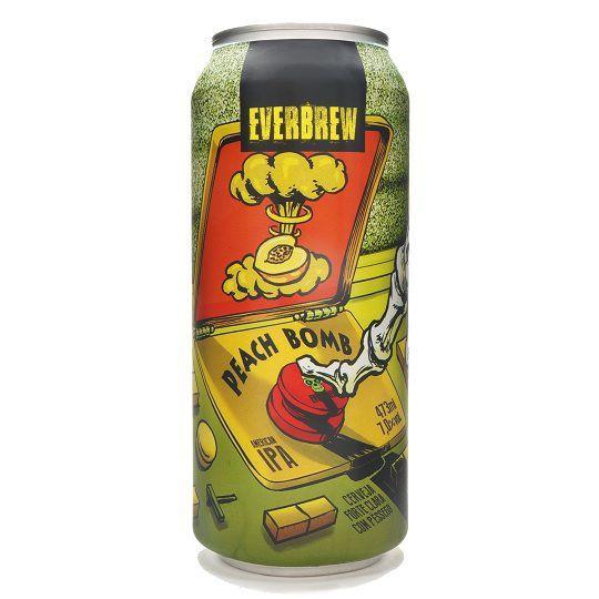 Cerveja Everbrew Peach Bomb Lata 473 ml