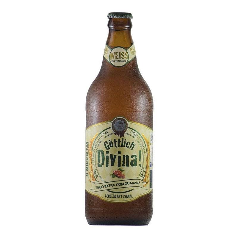 Cerveja Gottlich Divina Weiss com Guaraná 600 ml