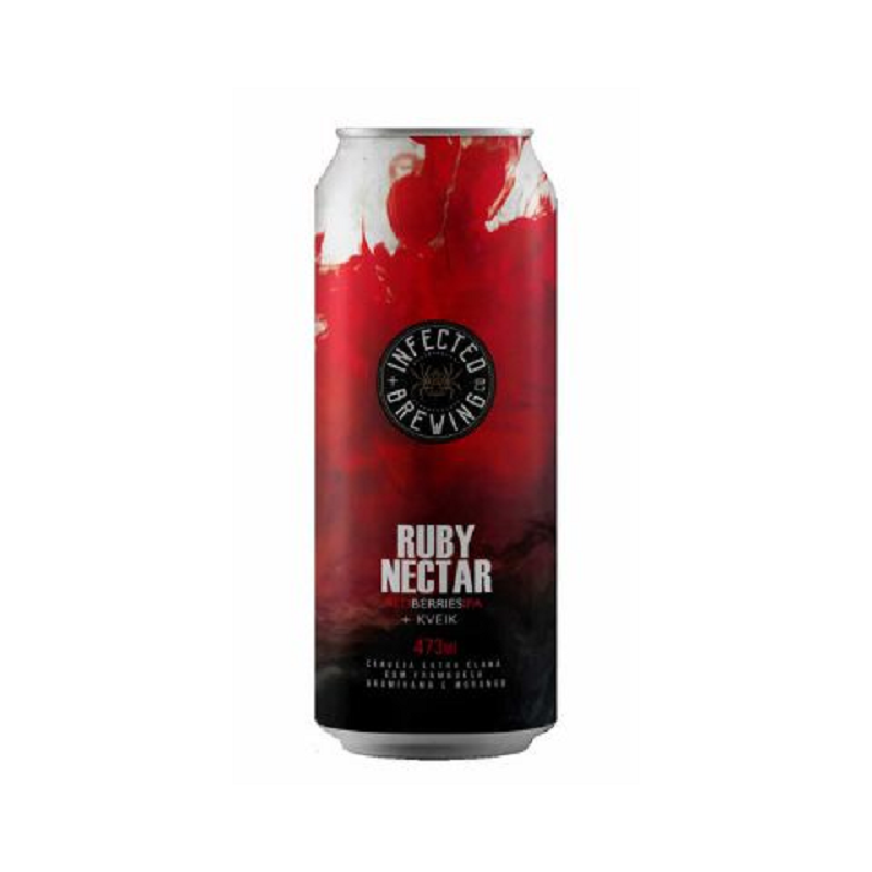Cerveja Infected Brewing Ruby Nectar Lata 473 ml