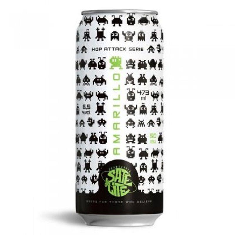 Cerveja Satélite Hop Attack Amarillo Lata 473 ml