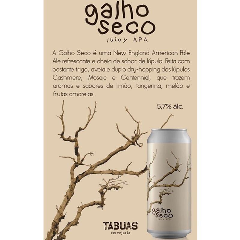 Cerveja Tabuas Galho Seco Lata 473 ml