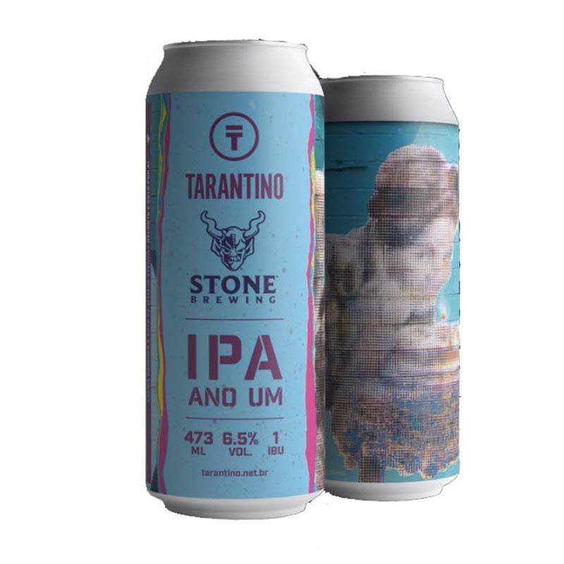 Cerveja Tarantino e Stone Ipa Ano Um Lata 473 ml