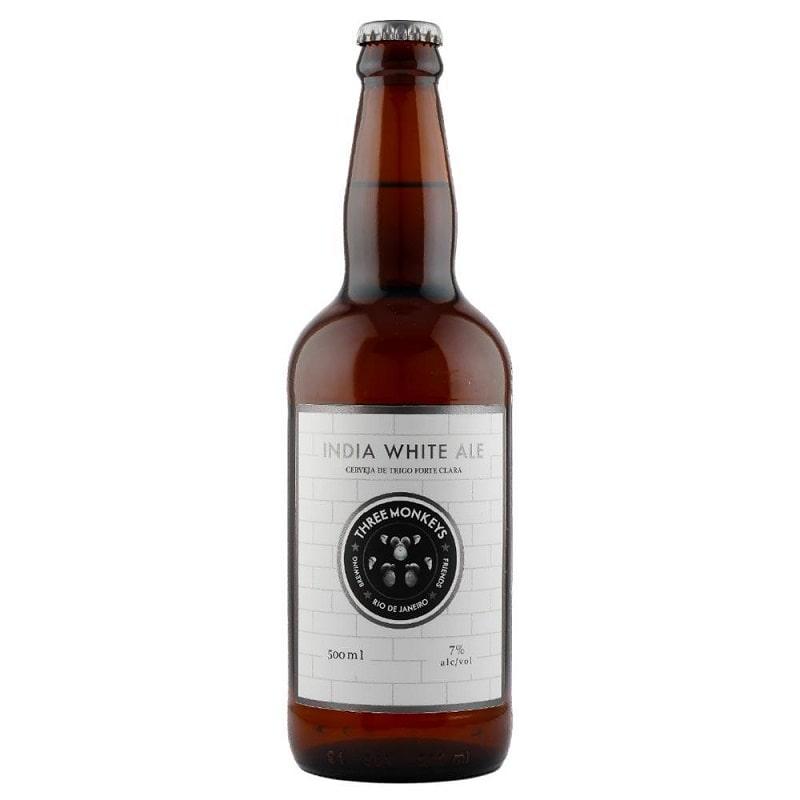 Cerveja Three Monkeys India White Ale 500 ml