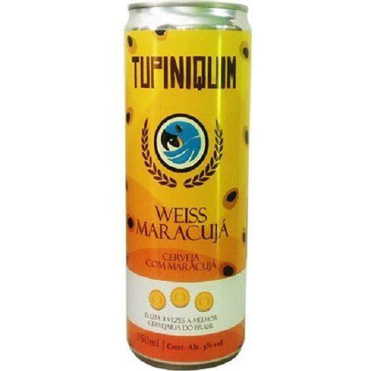 Cerveja Tupiniquim Weiss Maracuja Lata 350 ml