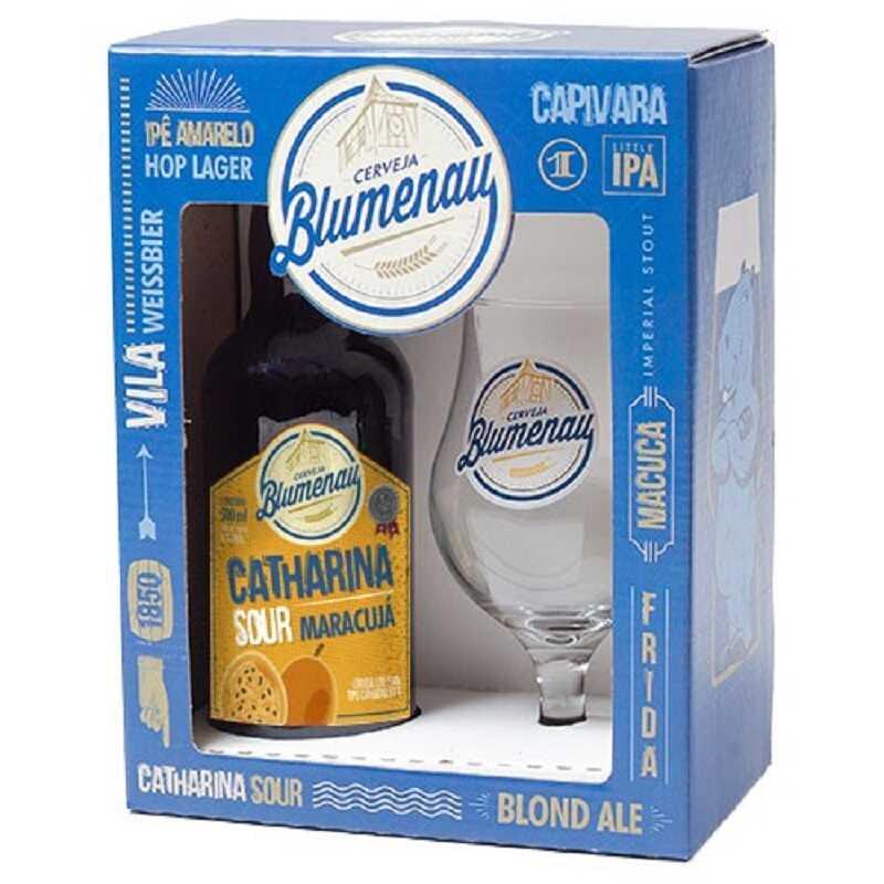 Kit Blumenau - Catharina Sour Maracujá 500 ml e Taça Windsor 330 ml