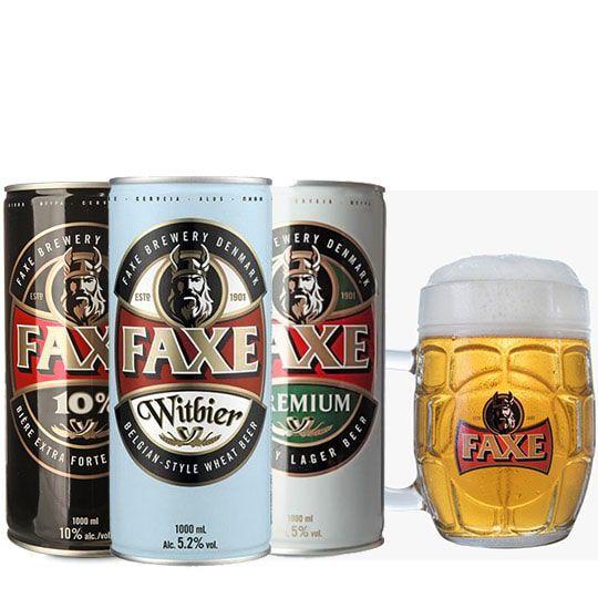Kit de 3 Cervejas Faxe com Caneca Exclusiva Gratuita