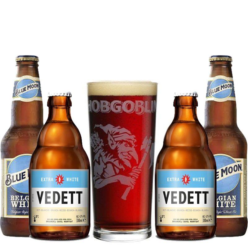 Kit de Cervejas Blue Moon e Vedett com Copo Gratuito