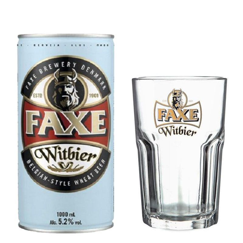 Kit de Cerveja Faxe Witbier 1 Litro com Copo