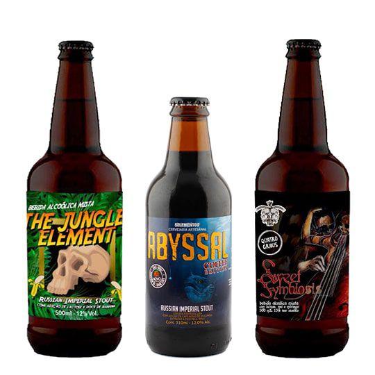 Kit de Cervejas 5 Elementos contendo 3 Rótulos