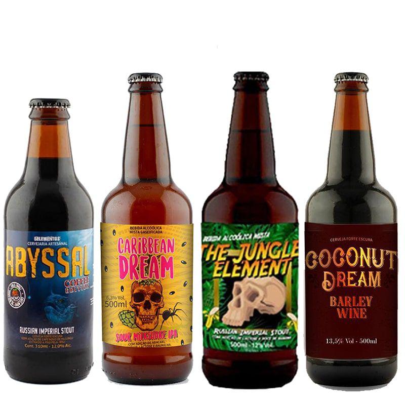 Kit de Cervejas 5 Elementos contendo 4 Rótulos