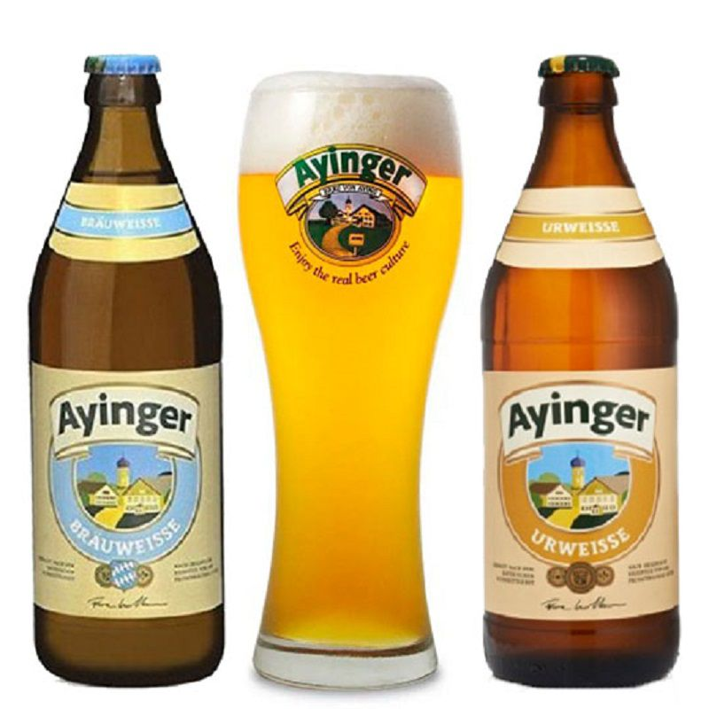 Kit de Cervejas Ayinger Misto com Copo Weizen Gratuito