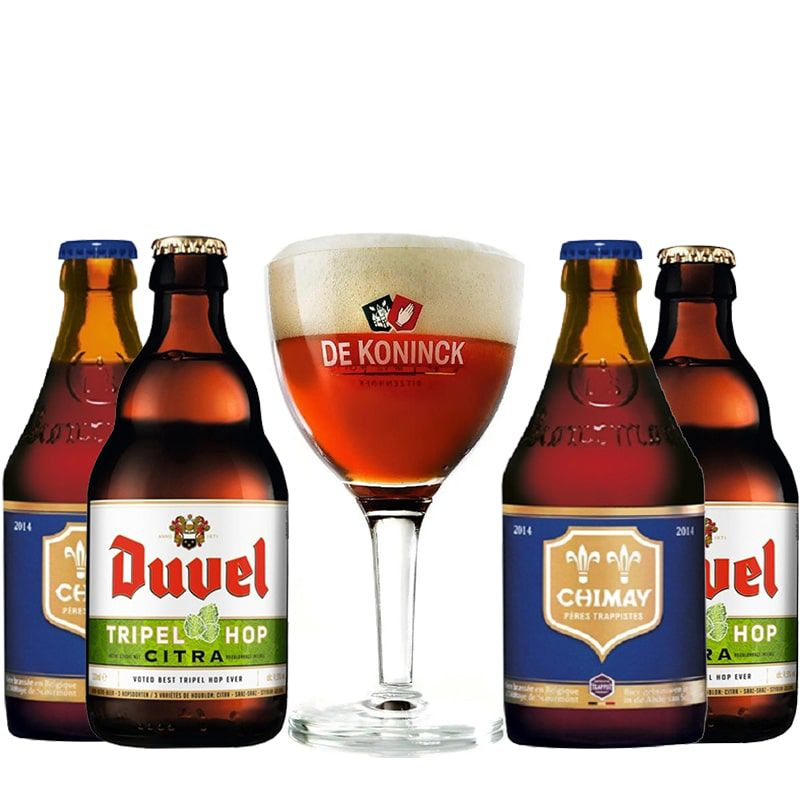 Kit de Cervejas Belgas com Taça de Koninck Gratuita