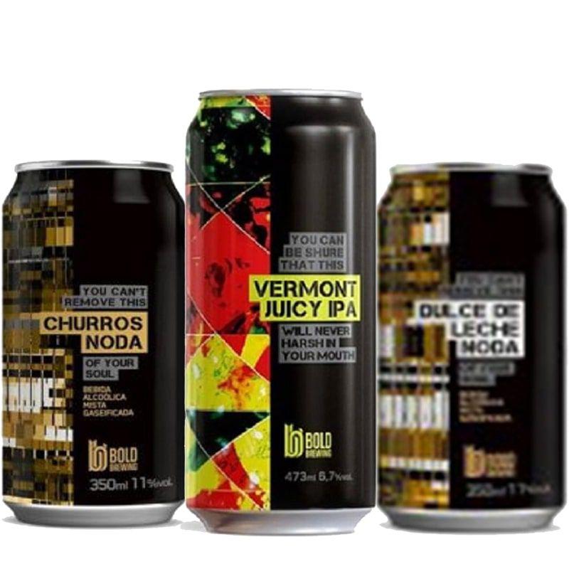 Kit de Cervejas Bold contendo 3 Rótulos