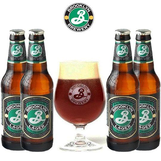 Kit de Cervejas Brooklyn Lager com Taça 330 ml