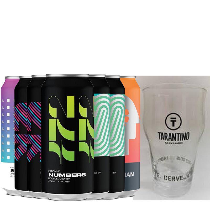 Kit de Cervejas Croma contendo 7 Rótulos com Copo Gratuito