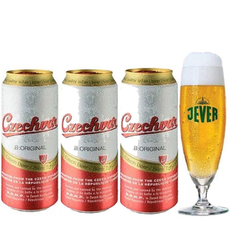 Kit de Cervejas Czechvar com Taça Jever