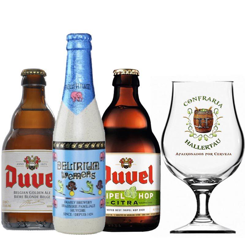 Kit de Cervejas do Estilo Belgian Golden Strong Ale com Taça 400 ml
