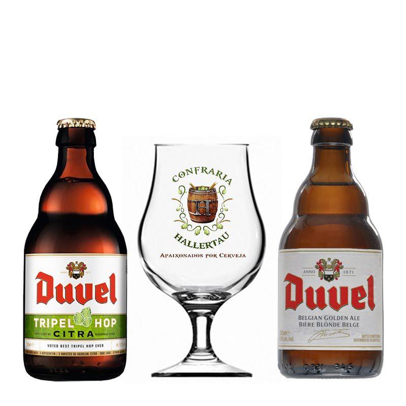 Kit de Cervejas Duvel com Taça Hallertau