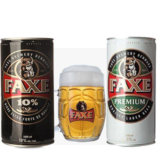 Kit de Cervejas Faxe com Caneca Exclusiva Gratuita