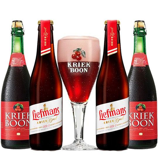 Kit de Cervejas Fruit Lambic com Taça Kriek Boon
